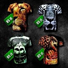 Koszulki z pełnym nadrukiem Animal w obniżonej cenie! Sprawdź sam.