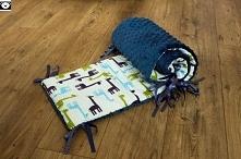 Ochraniacz do łóżeczka w żyrafy 30x150 cm.
