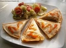 Mini quesadillas czyli tortilla z...tostera :) z farszem pieczarkowo-porowym ...