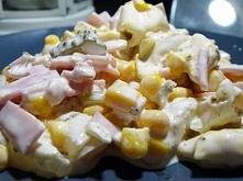 Sałatka z pierożkami tortellini :)