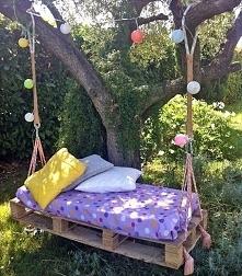 Huśtawka do ogrodu z europalet, huśtawka w ogrodzie DIY - zobacz jak samemu z...