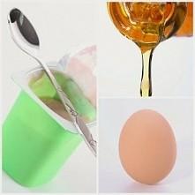 Regenerująca maseczka na zniszczone włosy1 jajko2 łyżeczki oliwy z oliwek2-3 łyżki stołowe jogurtu naturalnego  Mieszamy dokładnie wszystkie składniki. Nanosimy na włosy od nasa...