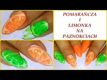 Pomarańcza i limonka na paznokciach - Orange And Lime Nail Art | Semilac, NeoNail