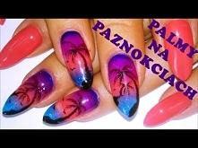 Palmy, ombre - Wakacyjne paznokcie   Semilac   JJ