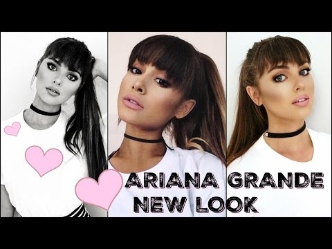 ARIANA GRANDE Makeup Tutorial 2016! New Bangs & Full Glam Look
