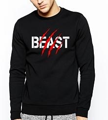 Bluza BEAST bestia sklep WYDRUKOWANE.COM.PL - modna bluza dla par zakochanych z napisem BESTIA dla Niego - bluza dla chłopaka z kompeltu bluzy dla dwojga - bluzy dla Niej i dla ...