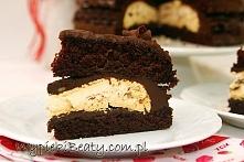 Czekoladowy tort z bezą - Wypieki Beaty