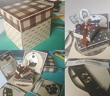 Tym razem urodzinowy exploding box z okazji 50 urodzin mojego taty :)