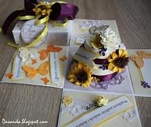 Scrapbooking - Exploding box na ślub