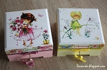 Pudełka decoupage dla bliźniaczek