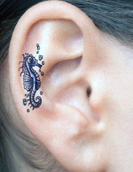 Tatuaże Na Uchu Konik Morski Na Tatuaże Zszywkapl