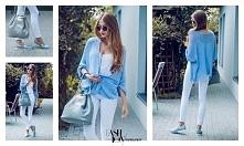 Sweterek/Italian Fashion/Hala G/Stoisko 290/Ptak Fashion City. Koszula, okulary i spodnie/Vero Moda/Ptak Outlet/Ptak Fashion City. Buty/Maroni/Pasaż Wschodni/Stoisko 29x/Ptak Fa...
