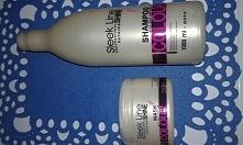 Sleek Line, Repair & Shine, Maska i szampon do włosów z jedwabiem. Używam tego zestawu od kiedy na moich włosach zagościło sombre :) Chciałam kupić produkty, które będą skie...