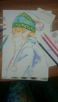 yukine ^^ w trakcie rysowania  ;3 przepraszam że nie byłam aktywna przez tyle czasu miałam kilka problemów ale mimo wszystko postaram się nadrobić to <3 a twój rysunek watasz...