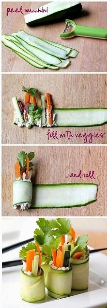 Jak przygotować gunkan sushi z małej cukinii lub ogórka