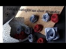 Róże z wstążki na dwa sposoby