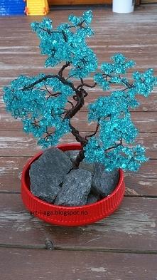 drzewko bonsai z koralików