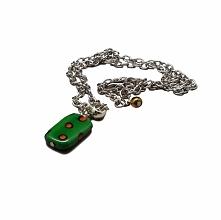 Zielony naszyjnik. Oryginalna biżuteria w gartagallery.pl