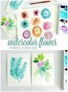 malowanie kwiatków za pomoc...