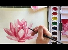 How to Paint Watercolor a Water Lily