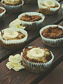 bananowo-marchewkowe muffinki