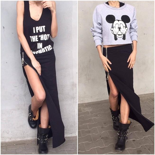 @MagicWoman Shop bokserka/spódnica bluza/spódnica