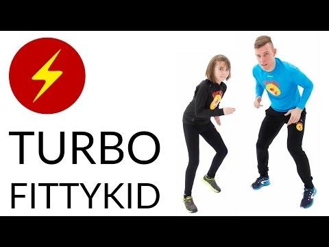 TURBO FITTYKID świetnie sprawdzi się zarówno jako wspólna aktywność z dzieckiem, jak i trening odchudzający przy którym można spalić nawet 200kcal. Trening można wykonywać w parze lub indywidualnie.