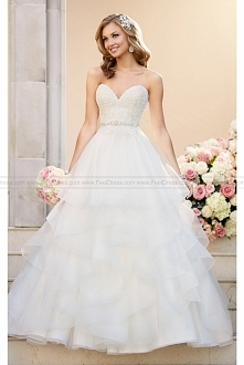 Stella York A-line Wedding Dress With Lace Bodice Style 6330