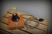 "Lampa drewniana ""Edison's box - single"" - GaleriaPrzetwórnia  ..."