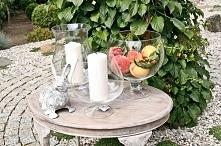 dekoracja ogrodowa, dekoracyjne szkło, wazony, świeczniki, figurki, szklane naczynia