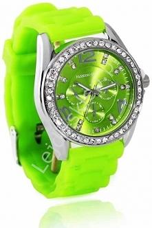 Neonowo zielony zegarek