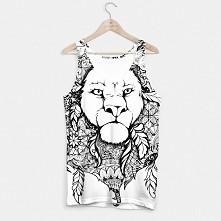 Mandala lion:) Więcej naszych ciuchów na  liveheroes com/en/brand/fool-moon