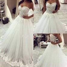 Jestem OCZAROWANA tą suknią ślubną!♥♥♥
