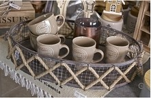 dekoracyjna taca, taca na kawe, taca francuska, ozdobna taca