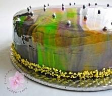 Lustrzana polewa idealna do wszelkiego rodzaju ciast . Składniki  20 g żelatyny w proszku + 120 ml wody 300 g glukozy 300 g cukru 200 g mleka skondensowanego słodzonego 150 ml w...