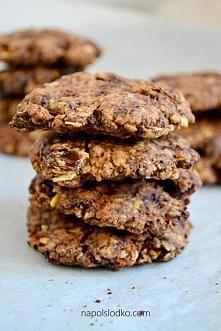 Kakaowe ciasteczka owsiane bez dodatku cukru. Link do przepisu w komentarzu :...