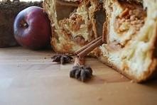 strucla jabłkowa z cynamonem z jabłek z maminego ogrodu!    upieczone ale niezjedzone... u mnie redukcja pełną parą, ale innych dokarmiać nikt mi nie zabroni :p