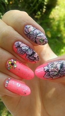 neonowo-kwiatowe