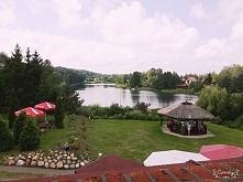 jeszcze jedna fotka jeziorka w Majdach :] (widok z pokoju) Pensjonat Wulpink :)