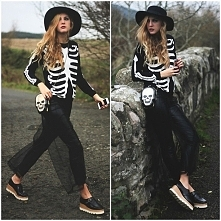 glam skeleton