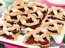 ciasto ze śliwkami i bezą :...