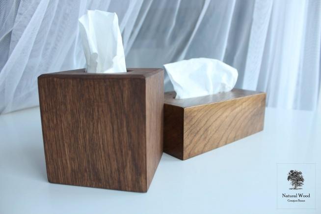 Pudełka na chusteczki Wykonanie ręczne, drewno dąb.