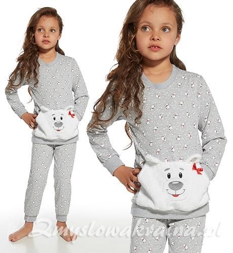 Piżamka dziewczęca z misiem Cornette. zmyslowakraina.pl