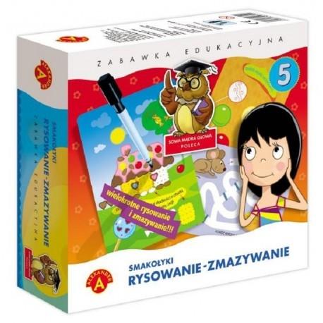 Witajcie:) Nowy rok szkolny już przed nami:)  Nowa, Zabawka Edukacyjna dla Dzieci od lat 4 Rysowanie Zmazywanie - Smakołyki.   Zabawa polega na na rysowaniu po śladzie, dzięki czemu dziecko uczy się właściwego kształtu przedmiotów, ćwiczy umiejętności manualne oraz spostrzegawczość.  Sprawdźcie sami:)