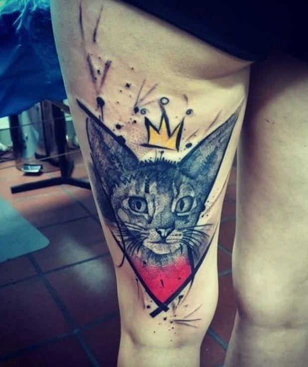 Kot W Koronie Na Tatuaże Zszywkapl