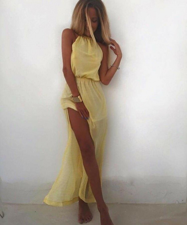 piękna zwiewna sukienka