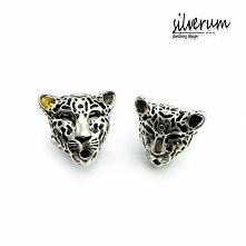 pierścionek srebrny gepard