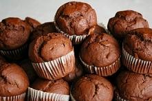 Muffinki czekoladowo bananowe. Pycha !