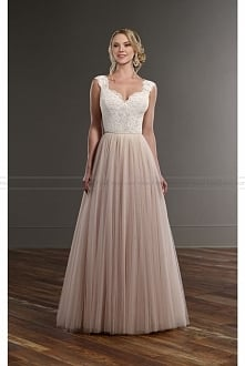 Martina Liana Tulle Skirt Illusion Lace Wedding Separates Style Bryn + Scout