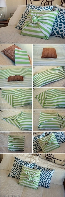 elegancka poduszka w 5 minut bez szycia :)